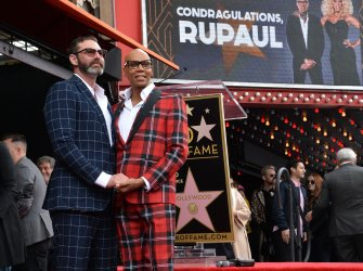 RuPaul honored with star on the Hollywood Walk of Fame in Los Angeles