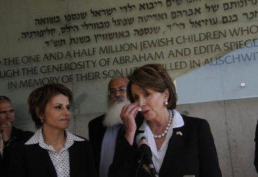 U.S. Speaker of the House of Representatives Nancy Pelosi visits Yad Vashem in Jerusalem