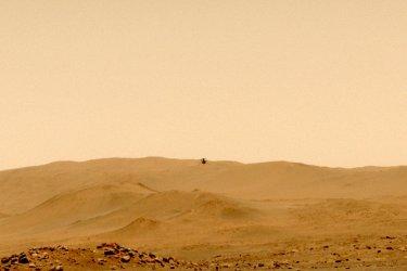 NASA's Perseverance Mars Rover Captures Ingenuity's Successful Fifth Flight