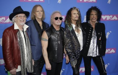Aerosmith at the MTV Video Music Awards in New York