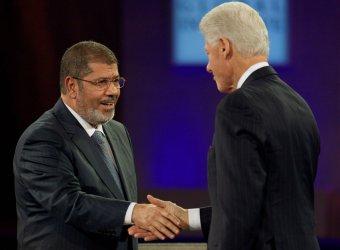Egyptian President Mohamed Morsi speaks at the 2012 Clinton Global Initiative Annual Meeting in New York