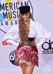 Tyra Banks attends 46th annual American Music Awards in Los Angeles