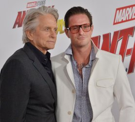"""Michael Douglas and Cameron Douglas attend the """"Ant-Man and the Wasp"""" premiere in Los Angeles"""