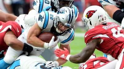 Panthers'  McCaffrey puts his head down