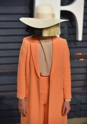 Sia arrives for the Vanity Fair Oscar Party in Beverly Hills