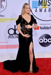 Carrie Underwood attends 46th annual American Music Awards in Los Angeles