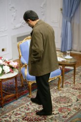 Iran's President Mahmoud Ahmadinejad Meets Iraqi Shiite leader Abdel Aziz al-Hakim