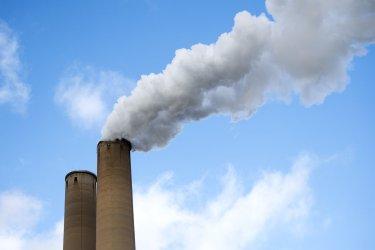 Smoke Stacks at a Coal Power Plant in Florida