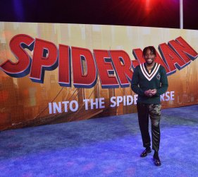 "Shameik Moore attends ""Spider-Man"" premiere in L.A."