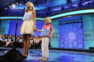 Lori Anne Madison, 6, competes in Scripps National Spelling Bee