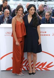 Hafsia Herzi and Meleinda Elasfour attend the Cannes Film Festival