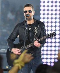 Muscian Eric Church performs at AT&T Stadium in Arlington, Texas