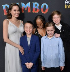 """Angelina Jolie and children attend the """"Dumbo"""" premiere in Los Angeles"""