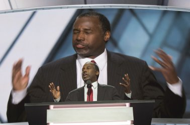 Former Presidential candidate Carson speaks at the Republican National Convention in Cleveland