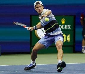 Diego Schwartzman, of Argentina, at the US Open