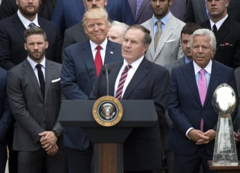 President Trump welcomes New England Patriots to the White House