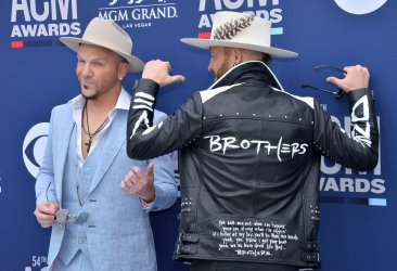 Chris Lucas and Preston Brust attend the Academy of Country Music Awards in Las Vegas