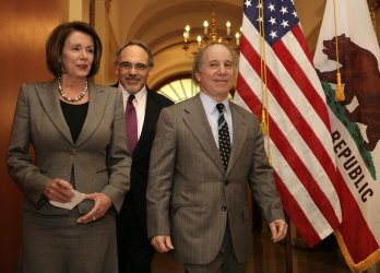 House Speaker Pelosi meets with singer Paul Simon on Capitol Hill.