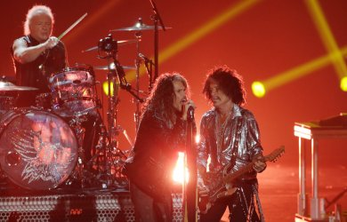 Aerosmith performs during the MTV Video Music Awards in New York