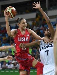USA vs France Women's Basketball at the Rio Summer Olympics