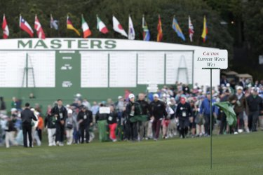 Ceremonial first tee ball at the Masters