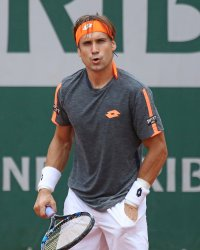 David Ferrer plays his third round match at the French Open