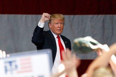 Donald Trump addresses supporters in Henderson, Nevada