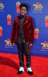 Keith L. Williams attends the MTV Movie & TV Awards in Santa Monica, California