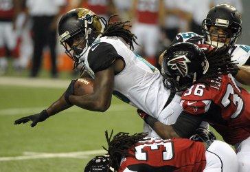The Atlanta Falcons play the Jacksonville Jaguars in a preseason game in Atlanta