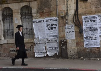 An Ultra-Orthodox Jew Walks In Jerusalem