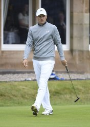 Jordan Spieth in action at the Open Golf Championship