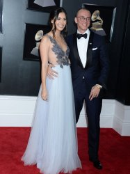 Jessica Andrea and Logic arrive at 60th Annual Grammy Awards in New York