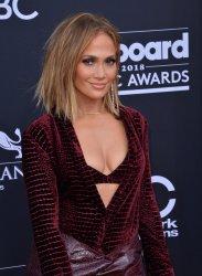 Jennifer Lopez arrives at the 2018 Billboard Music Awards in Las Vegas, Nevada