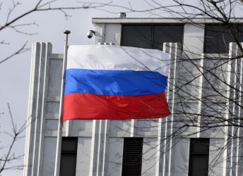 Russian Embassy is shown in Washington, DC after Sanctions