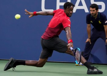 Gael Monfils, of France, at the US Open