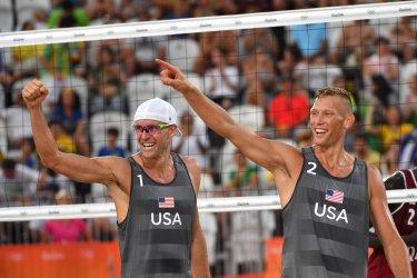 Men's Beach Volleyball USA vs. Qatar at the Rio Summer Olympics