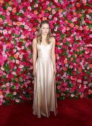 Melissa Benoist arrives at the Tony Awards