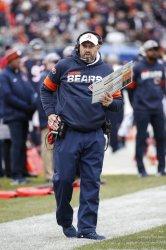 Bears head coach Matt Nagy directs his team against Giants in Chicago