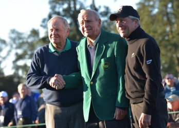 Honorary starters Jack Nicklaus, Arnold Palmer and Gary Player