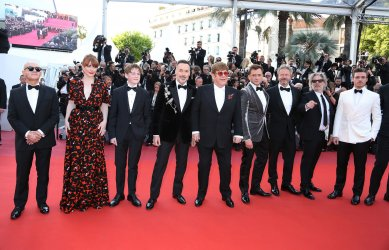 The team from Rocketman attends the Cannes Film Festival