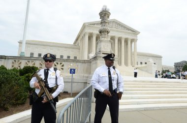 Security tight at Supreme Court