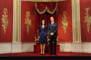 "Madame Tussauds reveal the new ""Waxwork Figures of Prince William, Duke of Cambridge and Catherine, Duchess of Cambridge"" in London"