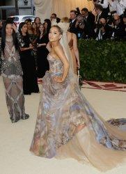Ariana Grande arrives at the Met Gala in New York