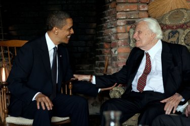 President Obama meets with Rev. Billy Graham