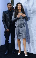 "Rapper Big Sean (L) and actress Naya Rivera attend the ""42"" premiere at in Los Angeles"