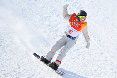 American Gerard in slopestyle finals in Pyeongchang 2018 Winter Olympics