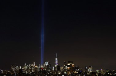 Approaching anniversary of 9/11 tribute in lights in New York