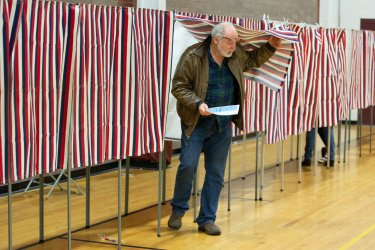 New Hampshire voters on primary day