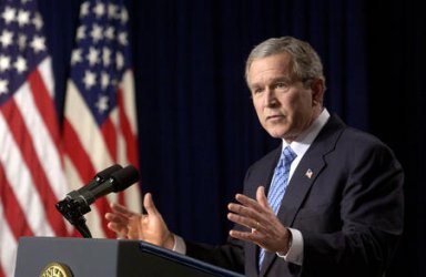 PRESIDENT GEORGE W. BUSH GIVES LAST NEWS CONFERENCE OF 2003