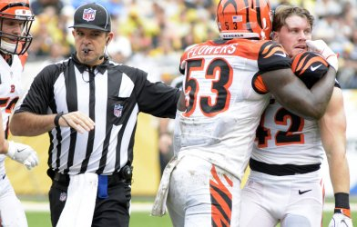 Bengals Clayton FejedelemReceives an Penalty in Pittsburgh